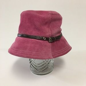 Coach P/S Suede Pink Classic Bucket Hat